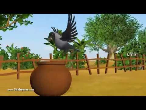 Ek Kauwa Pyaasa tha Poem   3D Animation Hindi Nursery Rhymes for Children with Lyrics   YouTube