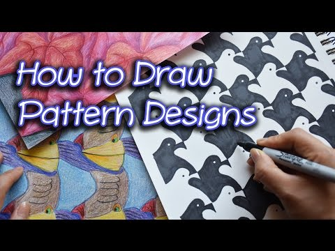 How to Draw Pattern Designs   Houndstooth Pattern  