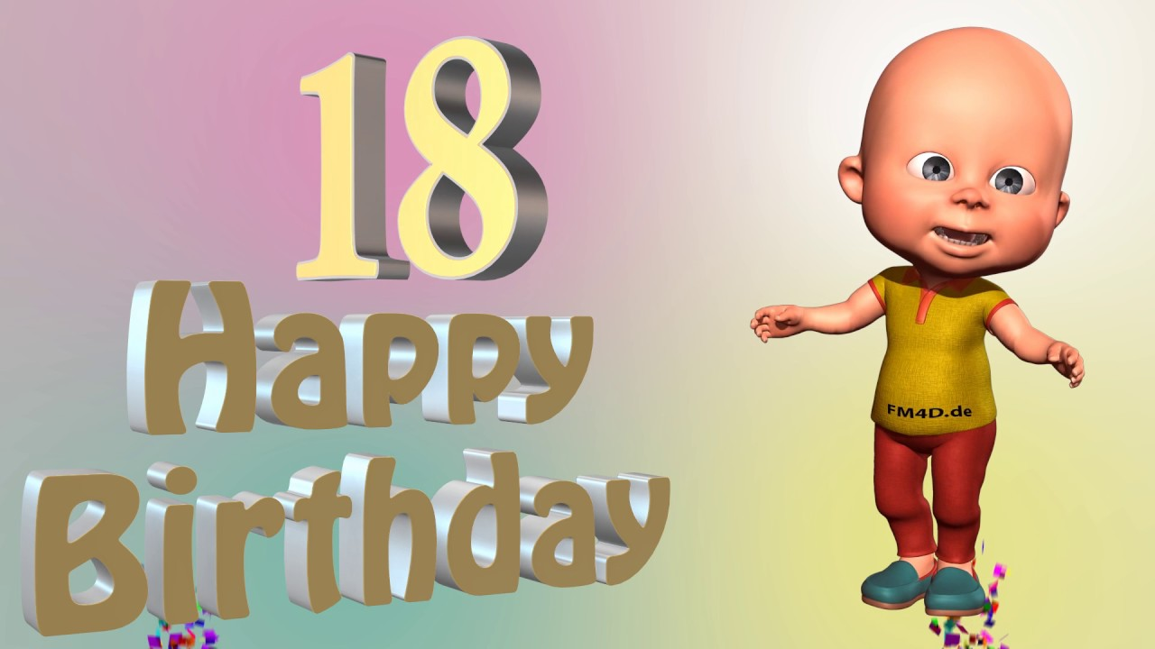 Lustiges geburtstags video alter 18 jahre happy birthday for Geburtstagsbilder 18