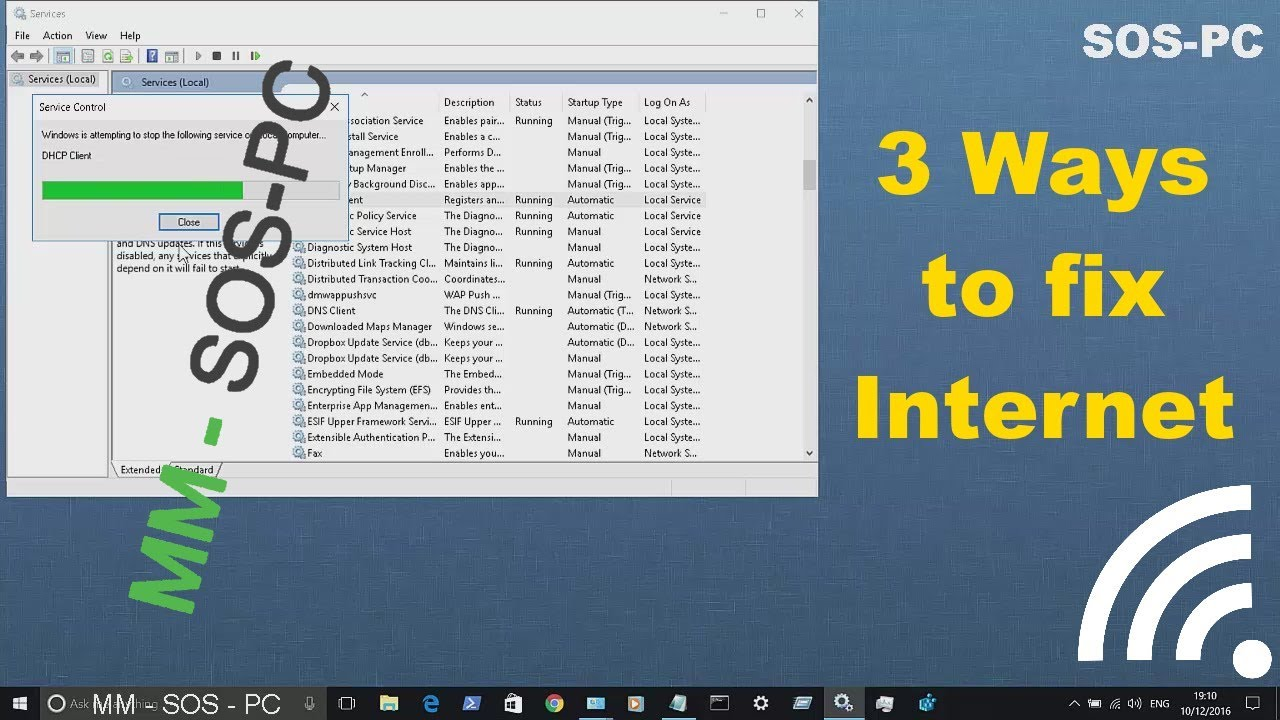 how to get windows 10 wi-fi icon working