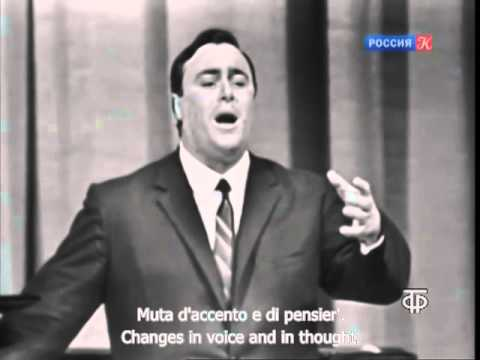A beardless Pavarotti sang La Donna e Mobile in Moscow 1964
