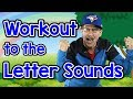Workout To The Letter Sounds | Version 2 | Letter Sounds Song | Phonics For Kids | Jack Hartmann