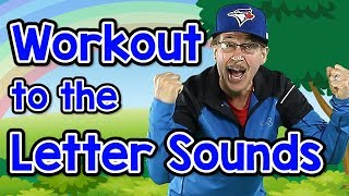 Workout to the Letter Sounds   Version 2   Letter Sounds Song   Phonics for Kids   Jack Hartmann
