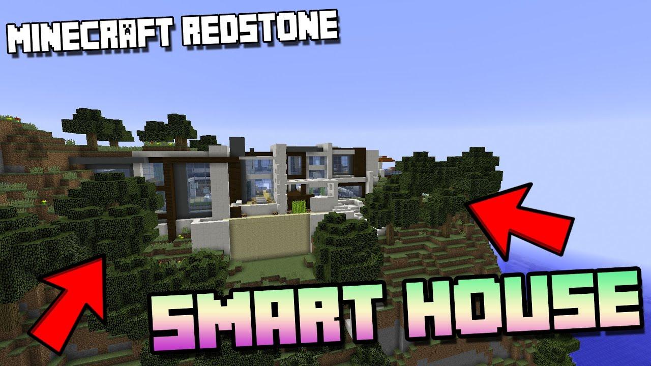expensive minecraft modern redstone mansion smart house youtube. Black Bedroom Furniture Sets. Home Design Ideas