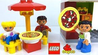 LA PIZZERIA DE LEGO DUPLO - PIZZERÍA PARA CONSTRUIR CON HORNO DE PIZZAS QUE SE ABRE TERRAZA Y MOTO