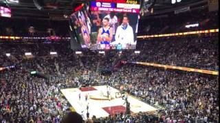 """Cavs Fans Chanting """"Cavs in 7"""" at Quicken Loans Arena Game 4 NBA Finals 2017"""