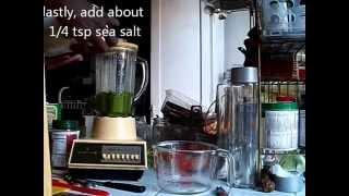 Making Pesto With Home-grown Basil And Parsley (low Phosphorus)