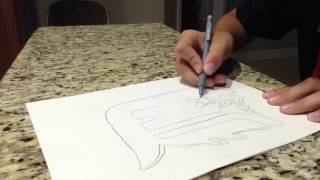 HOW TO DRAW DETROIT TIGER