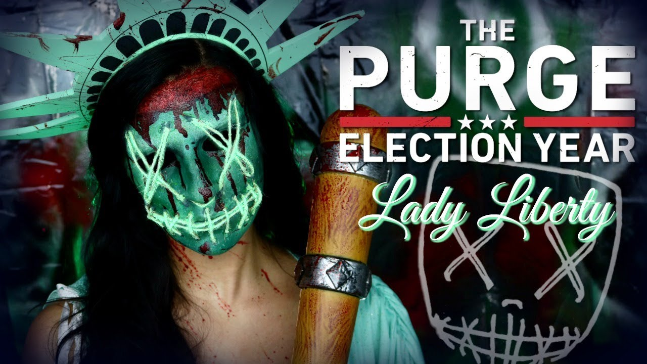 The Purge Election Year Lady Liberty Makeup Tutorial