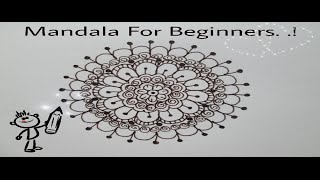 Easy Mandala for Beginners.! #Tutorial1