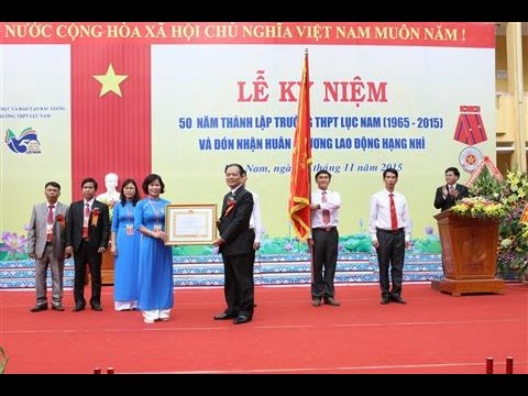 THPT Lục Nam - Lễ kỷ niệm 50 năm