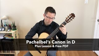 Lesson & Free PDF: Pachelbel's Canon in D for Classical Guitar - Stafaband