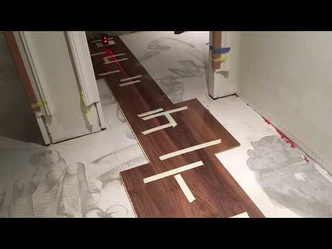 Engineered hardwood flooring installation--Glue Down (Part1)