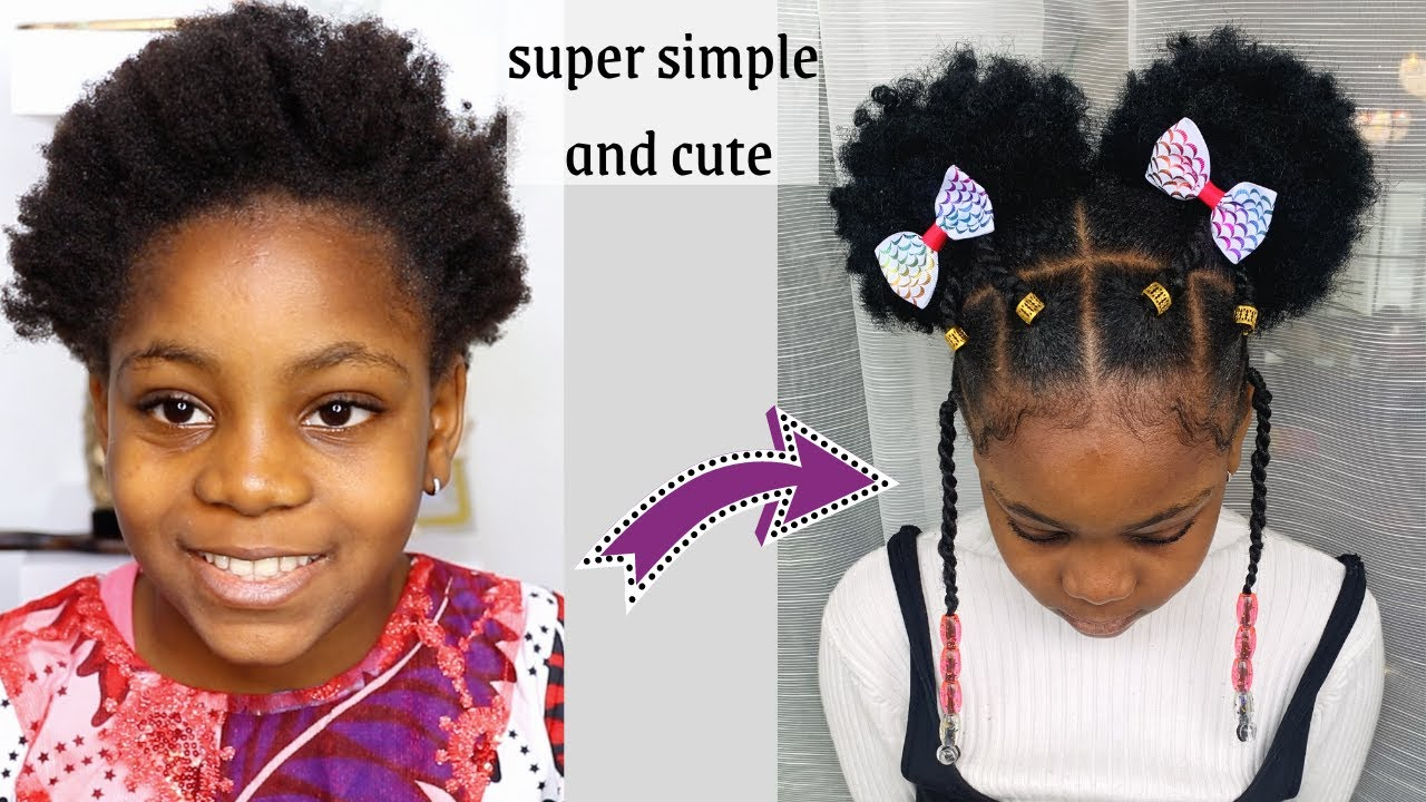Perfect Hairstyle For Any Occasion . Hairstyle for Toddlers/kid/little  black Girls with short Hair