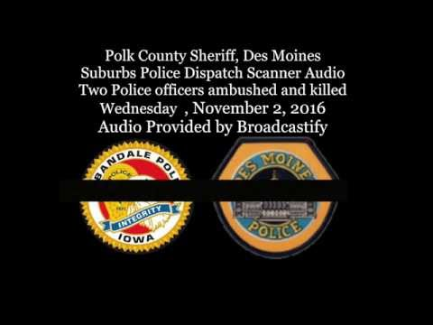 Full Scanner Audio Two Des Moines Police officers ambushed a