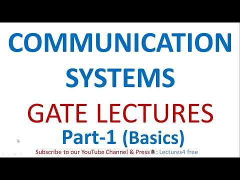 Communication System Part-1 (Basics) || GATE Lectures for Electronics & Communication