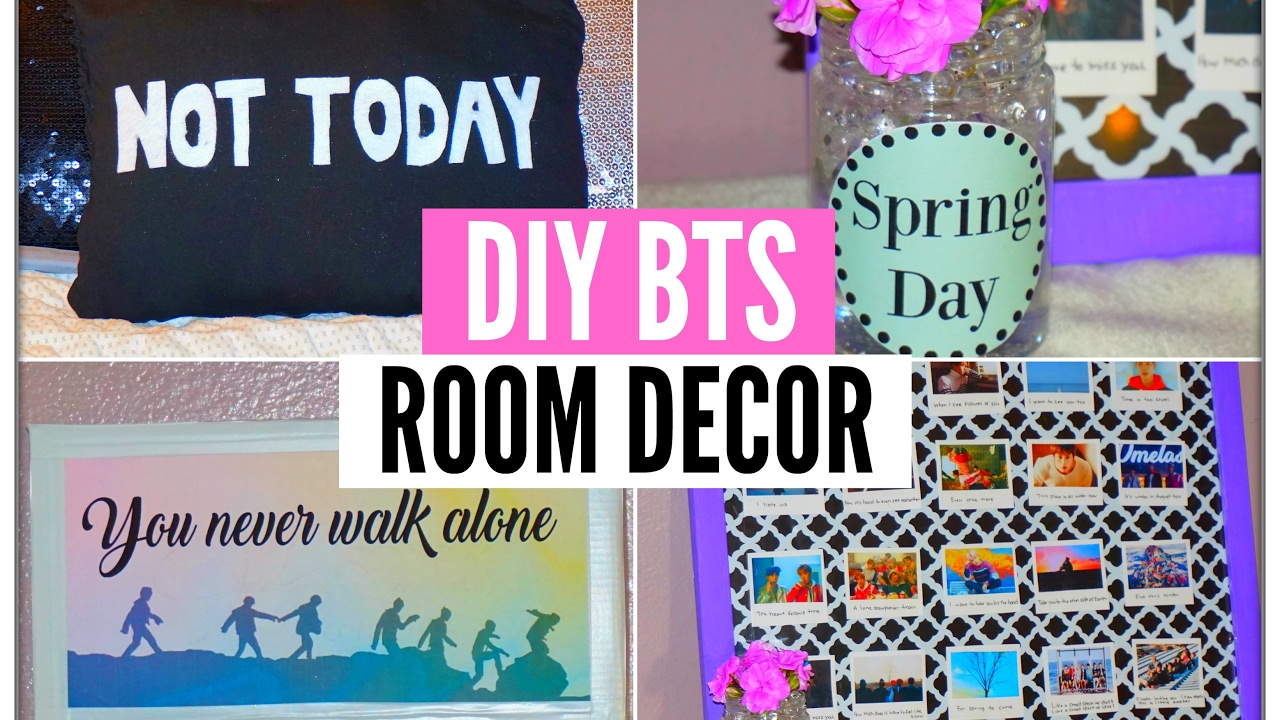 Diy kpop bts room decor you never walk alone spring day for Diy room decor ideas you never thought of