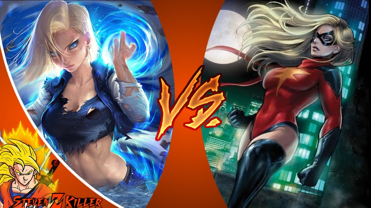 android 18 vs captain marvel (dragon ball vs marvel comics) _ death