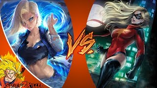 Android 18 VS Captain Marvel (Dragon Ball VS Marvel Comics) _ DEATH BATTLE! REACTION!!!