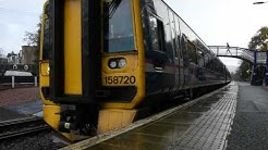 158720 Departing pitlochry working 1H51 Glasgow Queen Street to Inverness