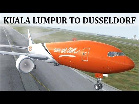 [FSX] [CARGO FLIGHT] KUALA LUMPUR (WMKK) TO DÜSSELDORF (EDDL) | TNT B777ER  | FSCLOUD LIVESTREAM