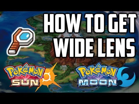 Where to Find Wide Lens - Pokemon Sun and Moon - YouTube