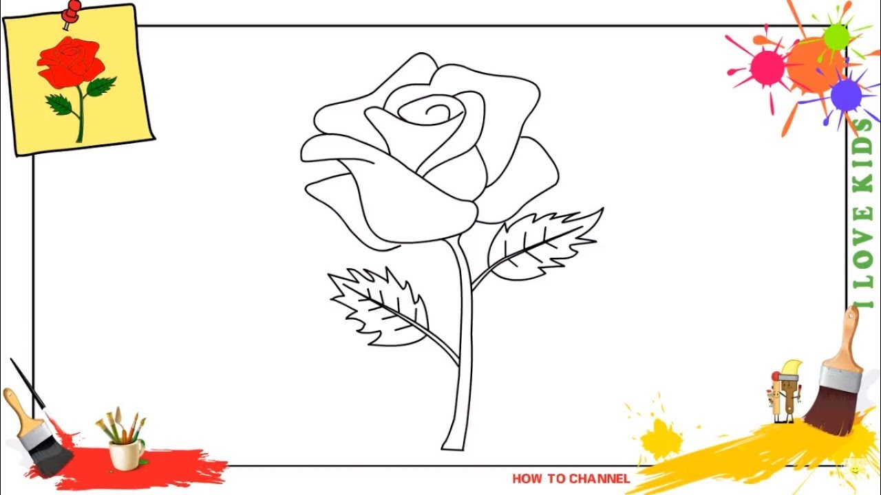 How to draw a rose SIMPLE, EASY & SLOWLY step by step for ...