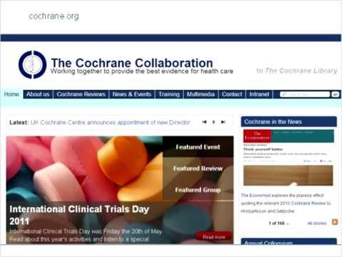 Session one: Who and what is The Cochrane Collaboration? What are systematic reviews?