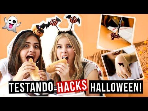 TESTÁMOS HACKS DE HALLOWEEN! Com Sofia BBeauty | Alice Trewinnard
