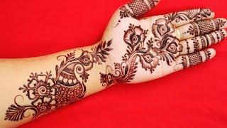 Easy Floral Mehndi Design for Hands   Easy Henana Designs for Beginners