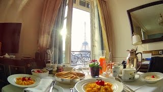 Video Breakfast with a view of the Eiffel Tower at the Shangri-La Paris download MP3, 3GP, MP4, WEBM, AVI, FLV November 2017