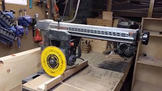 Mobile table for Radial arm saw