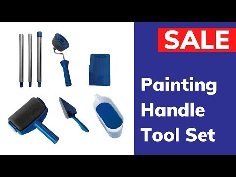 Paint Roller Brush Painting Handle Tool Set