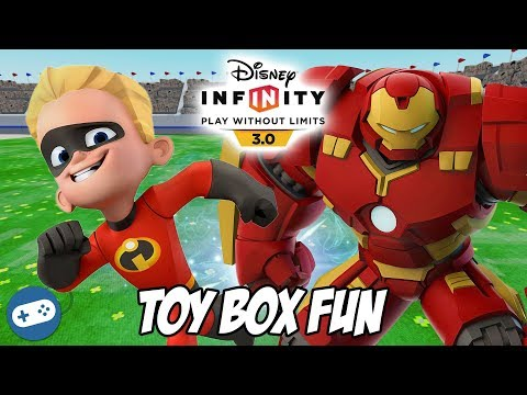 Dash And Hulkbuster Disney Infinity 3.0 Toy Box Fun Gameplay