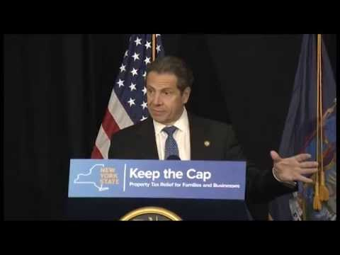 Governor Cuomo Details Property Tax Cap Success in New York