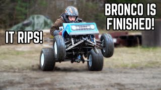 4WD Power Wheels Go Kart Build SEND OFF! Our Bronco Kart is FINISHED