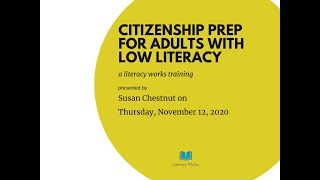 Citizenship Prep for Adults with Low Literacy