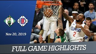 Boston Celtics Vs La Clippers - Full Game Highlights | November 20, 2019 | Nba 2019-20