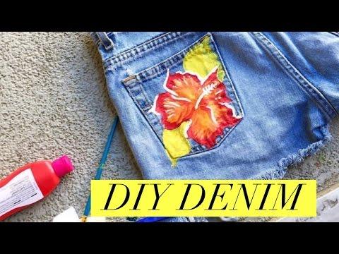 DIY : DENIM SHORTS | FRINGE, POM POM & MORE | MISSCHARMSIE