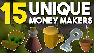 15 Unknown or Unique Money Making Methods! - Oldschool Runescape Money Making Guide! [OSRS]