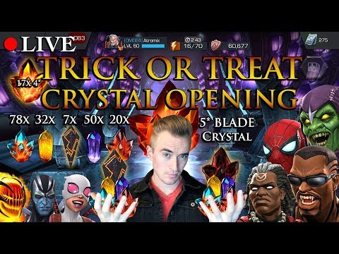 LIVE: 5 Star Blade Crystal - Trick Or Treat Opening! [17x 4 Star Crystals And Much More!]