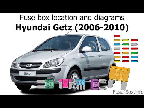 fuse box location and diagrams hyundai getz (2006 2010) youtube