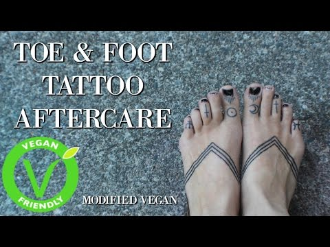 Hand-Poked Toe & Foot Tattoo Aftercare