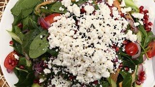Narlı Lor Peynirli Ispanak Salatası Tarifi