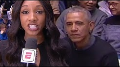 Barack Obama Caught CHECKING OUT ESPN Reporter Maria Taylor & Internet Goes WILD!
