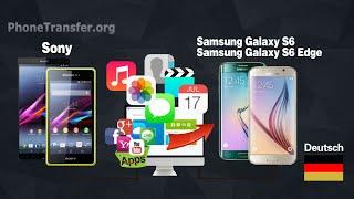 Wie Sie alle Daten von Sony Xperia Telefon zu Samsung Galaxy S6 / S7 (Edge +) Synchronisieren