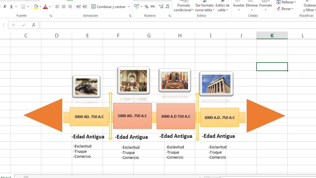 Como Hacer Una Linea De Tiempo En Excel 2013
