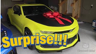 I Surprised My Dad With A Brand New 2020 Camaro SS 1LE!
