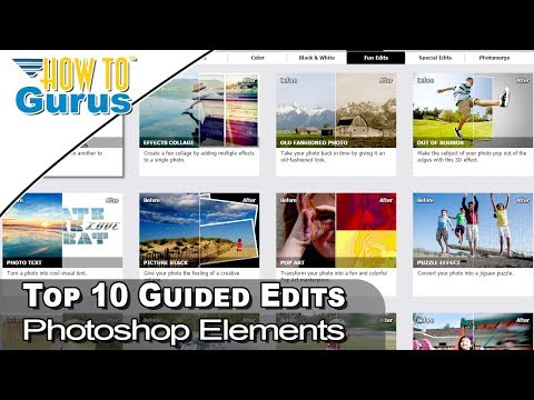 Photoshop Elements Top 10 Best Guided Edits
