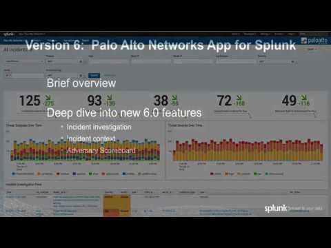 Palo Alto Networks App for Splunk v6 0 Demo